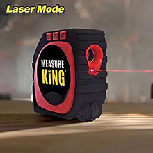 3-in-1 Measure King Laser Measuring Ruler Digital Tape Measures Sonic Mode Roller Percision Measuring Tools Laser Tape Measure