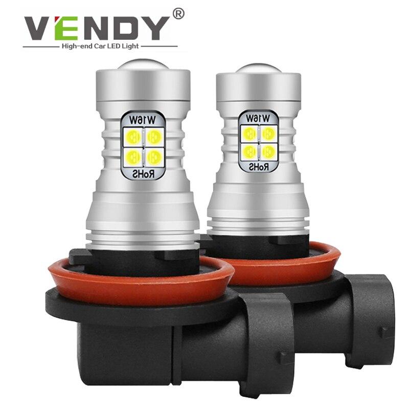 2 uds LED 12V lámpara de bombilla de luces antiniebla H8 H11 H16 9006 HB4 H10 9145 PSX24W 2504 9005 HB3 P13W PSX26W para el coche accesorios
