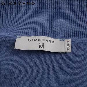 Image 5 - Giordano мужской джемпер с круглым высоким воротом,из натурального хлопка.