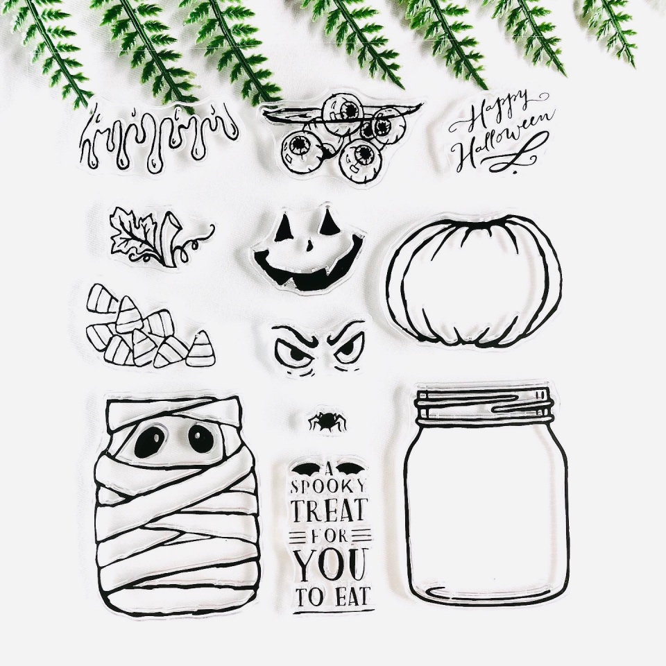 Clear Stamps-Sheet Scrapbooking Transparent Silicone Halloween For DIY Photo-Album Decorative