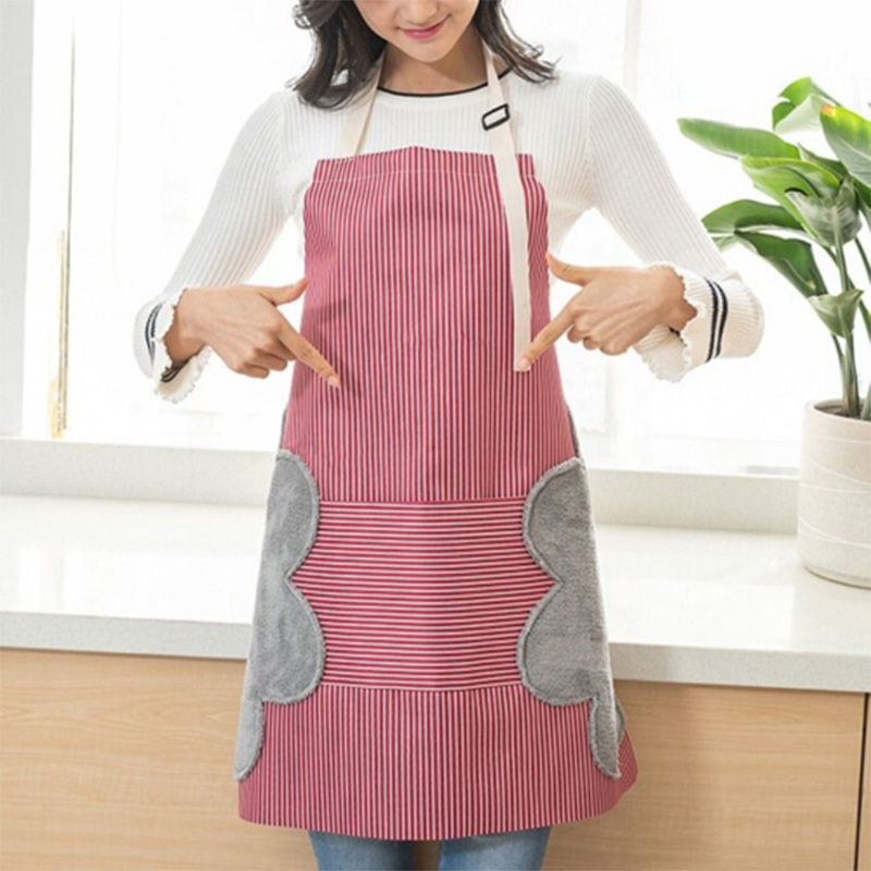Multi-functional Kitchen Apron Oil Proof Water Resistant Apron With Pockets NFE99