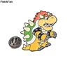 A3058 Patchfan Cute Cartoon Tortoise Pins Metal Badges Brooch lapel Pin For Women Men Clothes On The Backpack Accessory jewelry