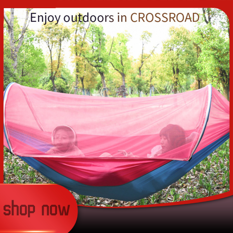 Portable Outdoor Mosquito Net 260x150cm Parachute Hammock Camping Hanging Sleeping Bed Swing Double Chair Hanging Bed