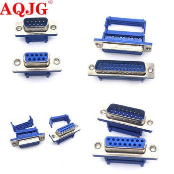 5PCS DB9 DB15 DB25 DB37 DIDC9/DIDC15/DIDC25/DIDC37 masculino feminino plug porta serial conector idc friso tipo D-SUB rs232 adaptador