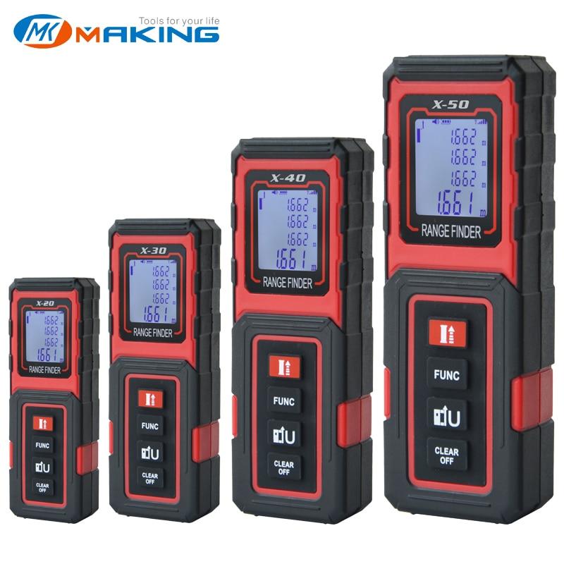 MAKINGTEC Laser Meter Laser Tape 40M50M Digital Tape Measuring Device Laser Distance Meter Digital Rangefinder Tape Measure Tool