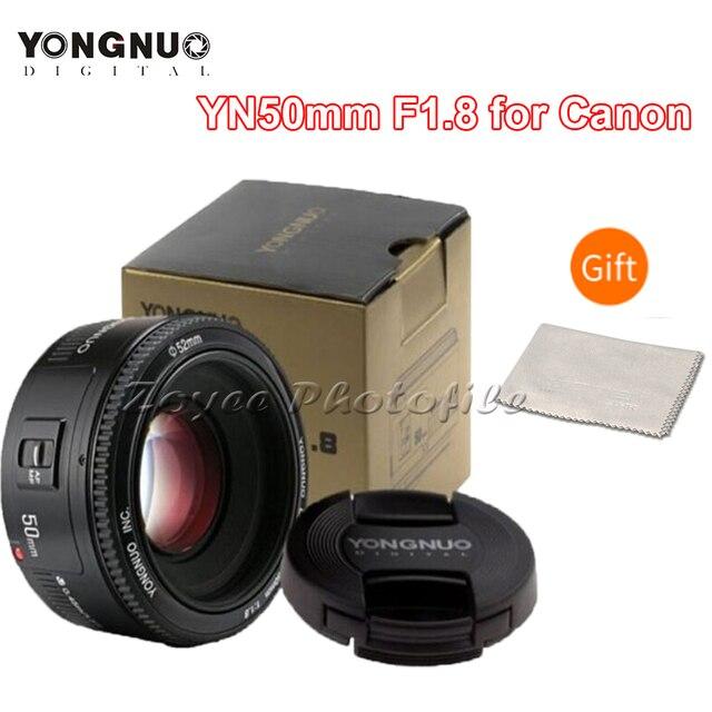 YONGNUO YN50mm F1.8 Dellobiettivo di Macchina Fotografica per Nikon F Canon EOS Messa A Fuoco Automatica Grande Apertura Lente per la Macchina Fotografica DSLR D800 D300 d700 D3200 D3300