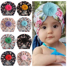 Europe And America CHILDREN'S Ornaments Children Donuts Hat Newborns Baby Meatball Printed(China)