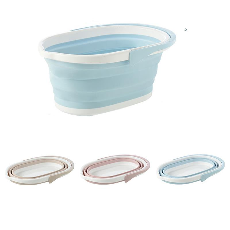 Portable Foldable Bucket Solid Basin Tourism Outdoor Clean Bucket Fishing Promotion Camping Car Wash Mop Folding Bucket Outdoor|Buckets| |  - title=