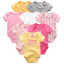 קיץ בגדי תינוקות 8Pcs יילוד ילדה Romper roupas דה bebe כותנה סרבלי תינוק קצר שרוול תינוק Onesies בגדים