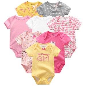 Image 1 - Summer Baby Clothes 8Pcs Newborn GIrl Romper roupas de bebe Cotton Baby Boy Jumpsuits Short Sleeve Baby Onesies Clothing
