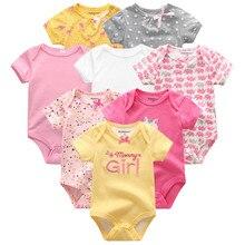 Yaz Bebek Giysileri 8 Adet Yenidoğan Kız Romper roupas de bebe Pamuk Erkek Bebek Jumpsuits Kisa Sleeve Bebek Onesies Giyim