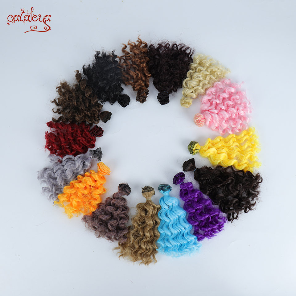 Cataleya Black Gold Brown Silver Color Short Curly Hair 15cm*100CM BJD Wigs For 1/3 1/4 1/6 Dolls DIY Hair For Dolls