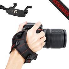 JJC DSLR Della Macchina Fotografica Hand Grip Strap Cinghia Da Polso w/U Piastra di Supporto per Nikon D850 D810 D750 D610 D7500 d7200 D7100 D5600 D5500 D3500