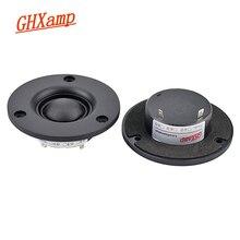 GHXAMP altavoz de cúpula de 3 pulgadas para cine en casa, 4ohm, 20W, película de seda, agudos, 25 núcleos, 5,1 altavoces, 90dB, 2 uds.