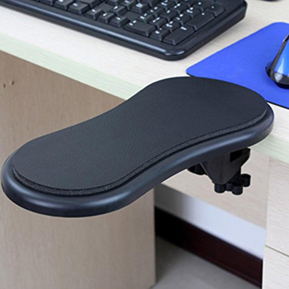 Computer Arm Support Mouse Pad Wrist Hand Shoulder Rest Mat Double Attachment Ergonomic Attachable For Table Chair/Desk Extender