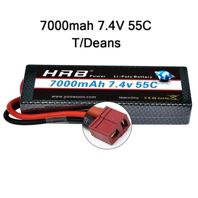 HRB 2S2P 7.4V 7000mah 50C Hardcase Lipo