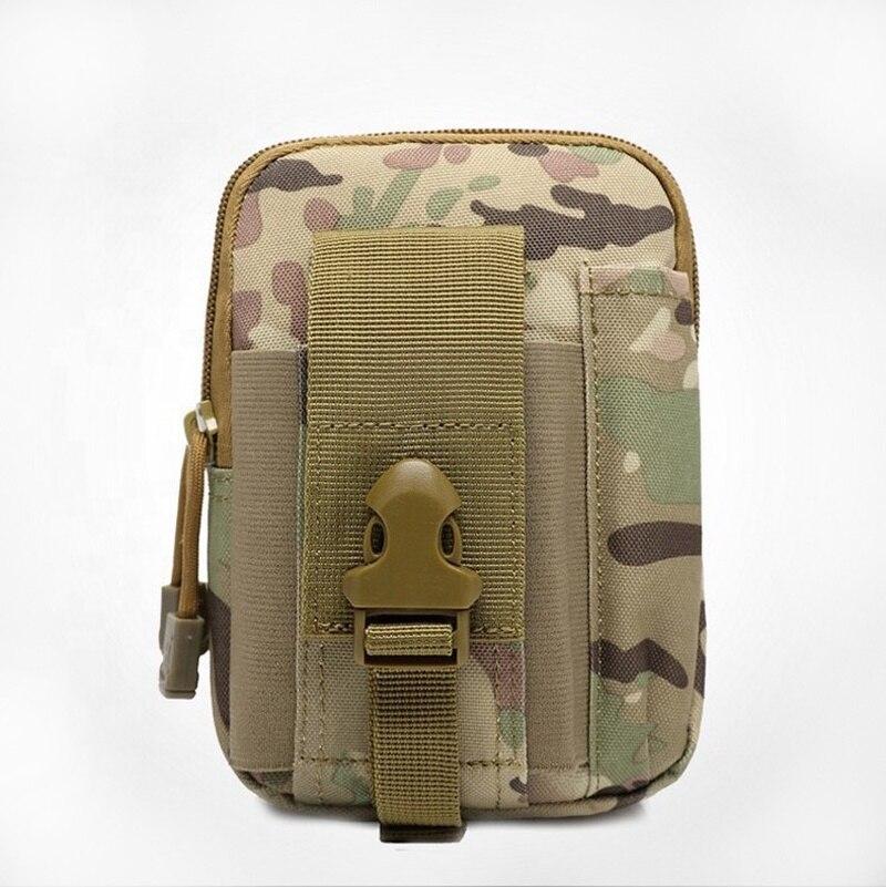 Sac de taille en nylon petit sac de camouflage molle de sport en cours d'exécution sac de taille militaire tactique avec poche de téléphone portable