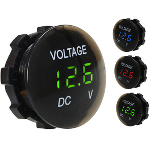 DC 12V-24V Digital Panel Voltmeter Voltage Meter Tester Led Display For Car Auto Motorcycle Boat ATV Truck Refit Accessories(China)