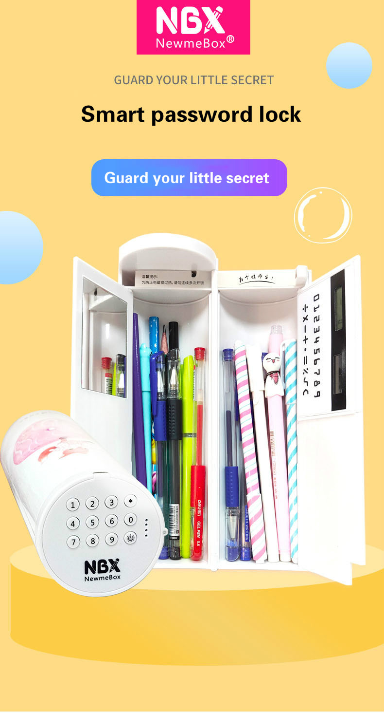 casos caneta caixa com espelho calculadora para