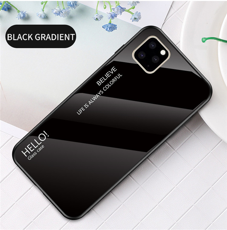 Ollyden Gradient Tempered Glass Cases for iPhone 11/11 Pro/11 Pro Max 13