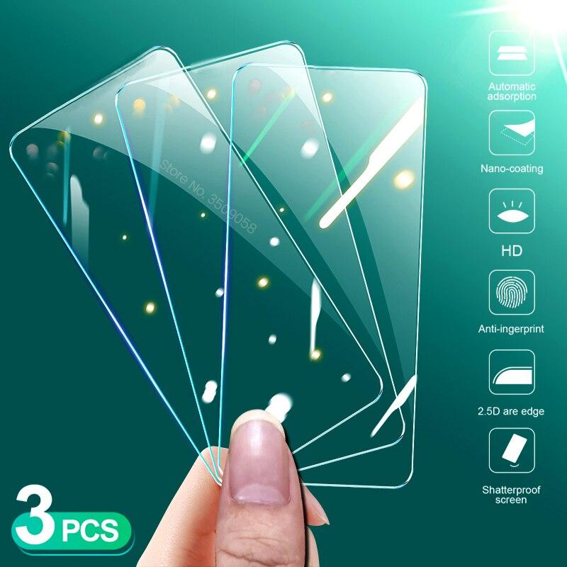 3 pièces verre trempé dorigine pour xiaomi redmi note 9 pro 9s 9a 9c pocophone poco x3 x 3 nfc 9h premium film de protection décran cam