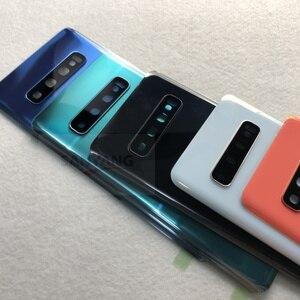 Image 3 - Dành Cho Samsung Galaxy Samsung Galaxy S10 Plus G975 G975F G973 G973F Full Nhà Ở S10 + Bao Pin Mặt Trận Trung Khung Viền Kim Loại kính Cường Lực Mặt Sau Cove