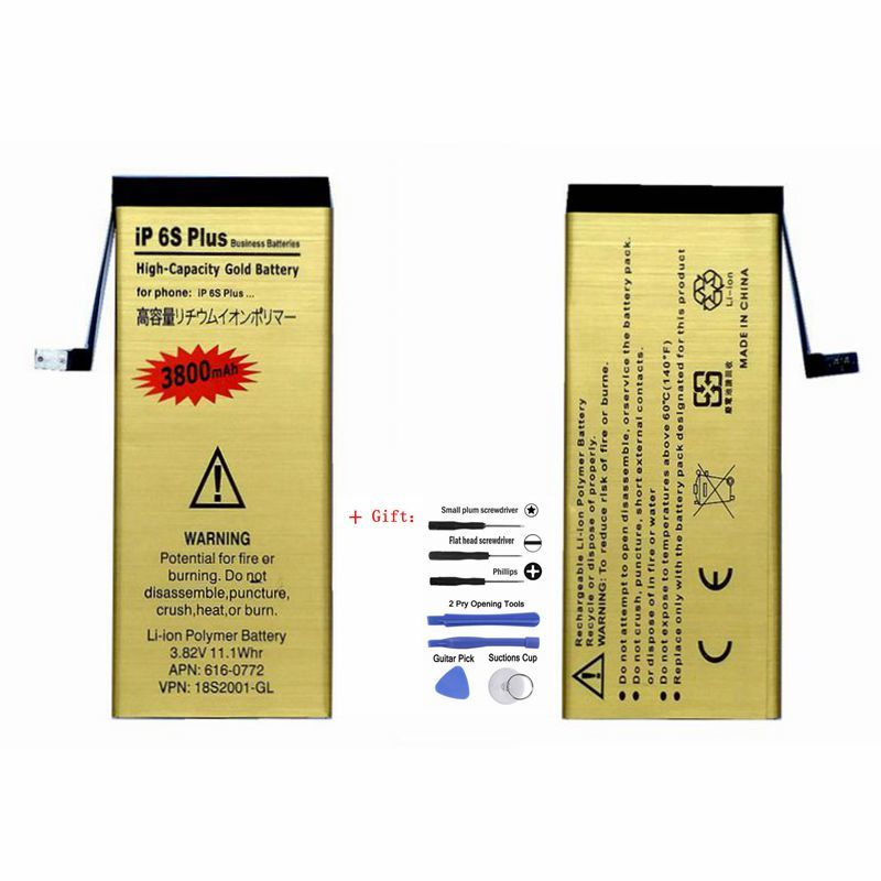 Replacment Bateria for <font><b>iPhone</b></font> <font><b>6s</b></font> plus <font><b>Battery</b></font> Accumulator for Apple <font><b>iPhone</b></font> 6 s plus <font><b>6s</b></font> plus <font><b>Batteries</b></font> <font><b>High</b></font> <font><b>Capacity</b></font> with tools image