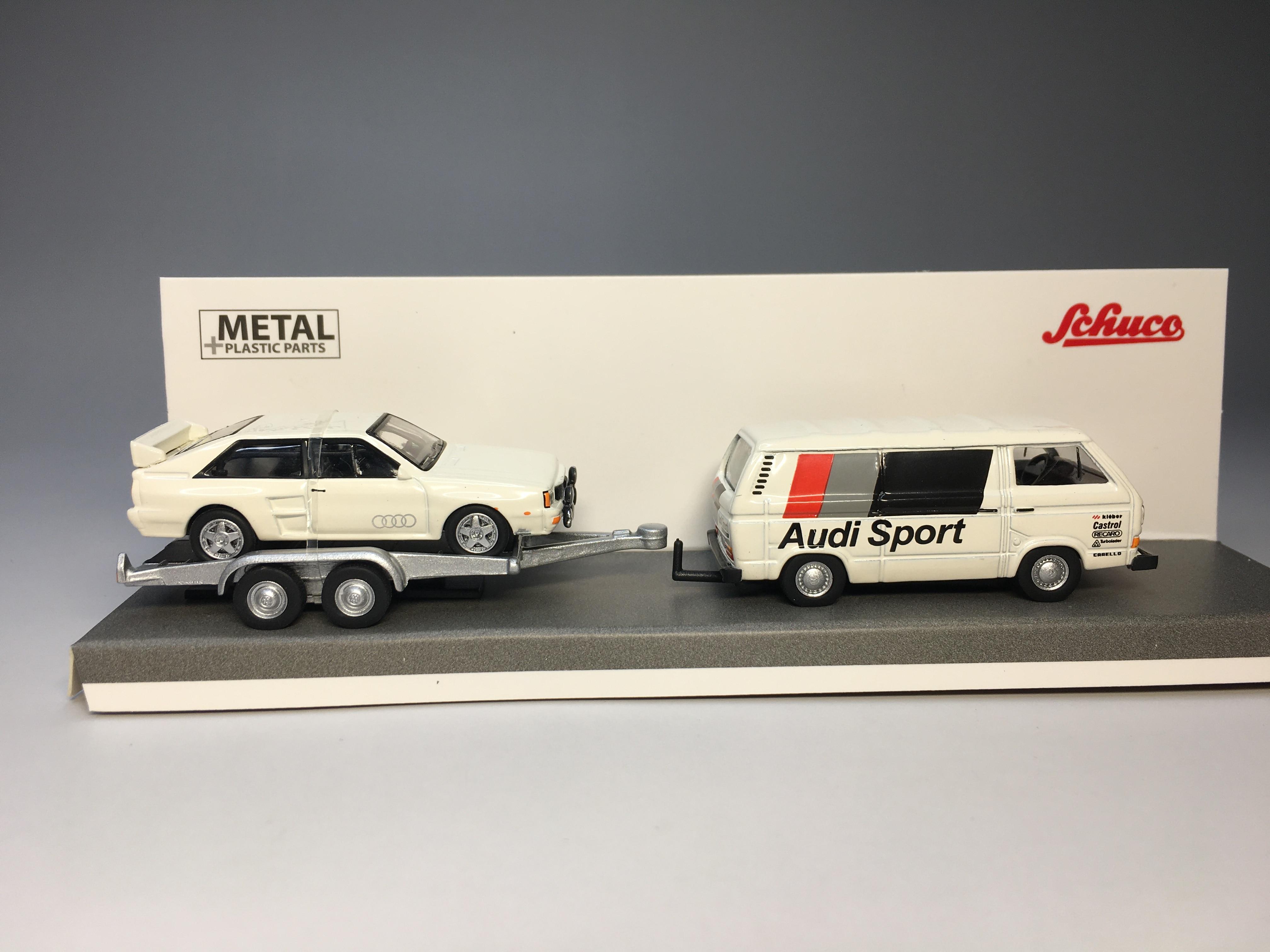 Schuco – cintre de Sport moulé sous pression, modèle de voiture de Collection limitée, VW T3b Audi, 1/87