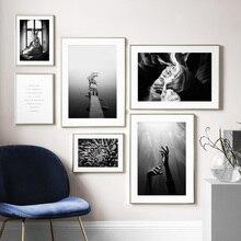 Personaje estatua mar flor cita pared arte lienzo pintura carteles nórdicos e impresiones Vintage pared cuadros para decoración de sala de estar