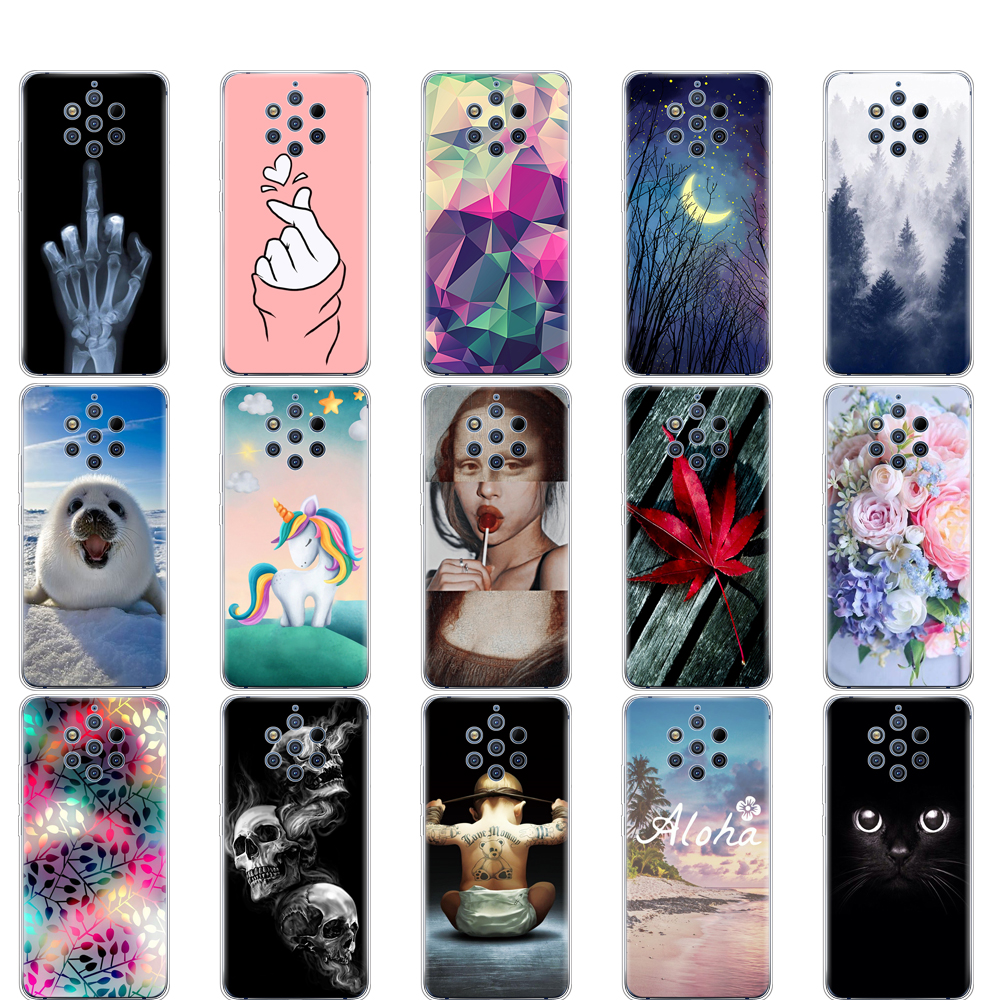 For Nokia 9 PureView Case Back Cover For Nokia 9 Pure View Phone Cases Silicone Soft TPU For Nokia 9 PureView bumper coque clear