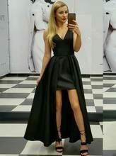 Платье трапециевидной формы с длинным v образным вырезом Вечерние