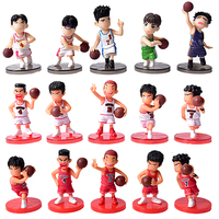 5Pcs/Lot SLAM DUNK Shohoku Basketball Player Figures Toys Hanamichi Rukawa Kaede Sakuragi  Anime Model Toys Movie & TV