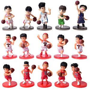 5Pcs/Lot SLAM DUNK Shohoku Basketball Player Figures Toys Hanamichi Rukawa Kaede Sakuragi Anime Model Toys Movie & TV(China)