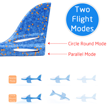 48 CM Hand Throw Airplane EPP Foam Launch fly Glider Planes Model Aircraft Outdoor Fun Toys for Children Party Game 4