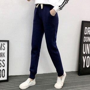 Image 5 - Jvzkass pantalones de chándal de talla grande para mujer, pantalón informal de lana de cordero, con relleno de terciopelo, Z54, para invierno, 2020