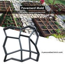 Manuall форма для производства брусчатки садовая тротуарная форма для бетонных форм многоразовые цементные каменные формы для керамической плитки DIY газон дорожка прогулки Производитель пластика