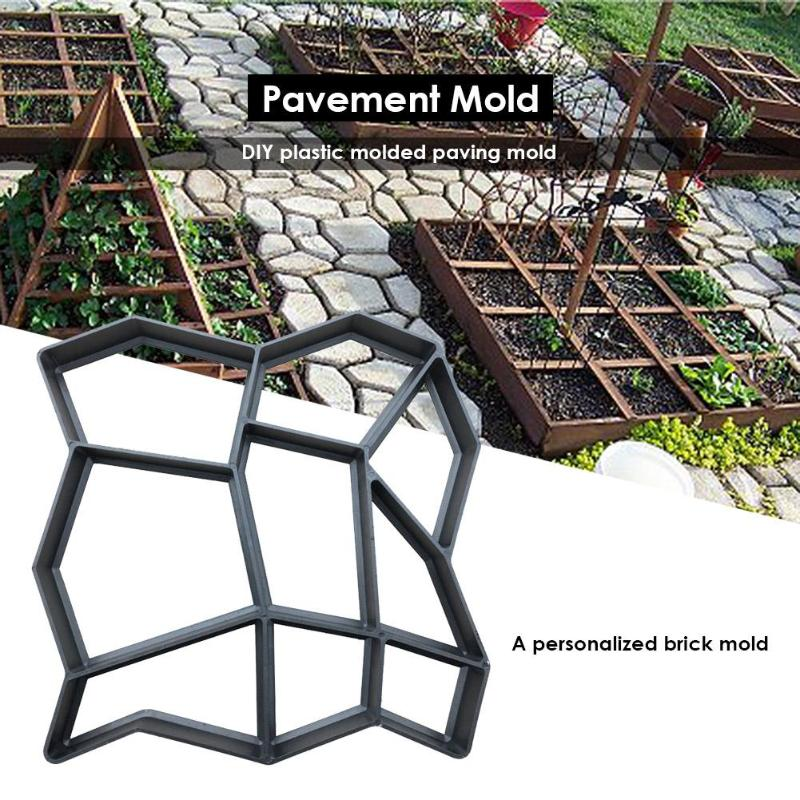 Garden Walk Pavement Mold Path Maker Mold Reusable Concrete Cement Stone DIY Reusable Concrete Brick Mold Manually Paving Cement