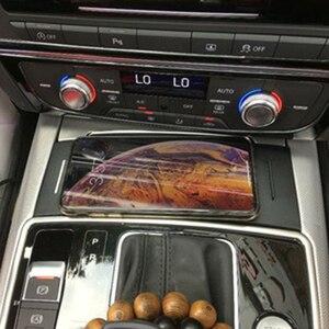 Image 1 - Für Audi A6 C7 RS6 A7 2012 2018 drahtlose ladegerät QI zigarette leichter ladegerät lade platte drahtlose telefon ladegerät zubehör