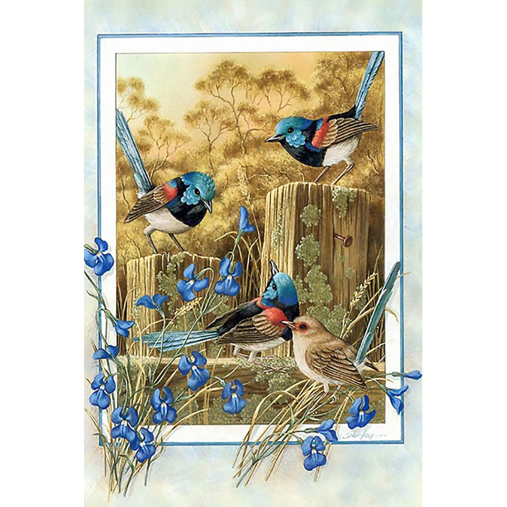 Diamond Painting Full Round/Square Bluebird flower map Mosaic 5d DIY Diamond Painting Animal Cross Stitch Embroidery Home Decor-0