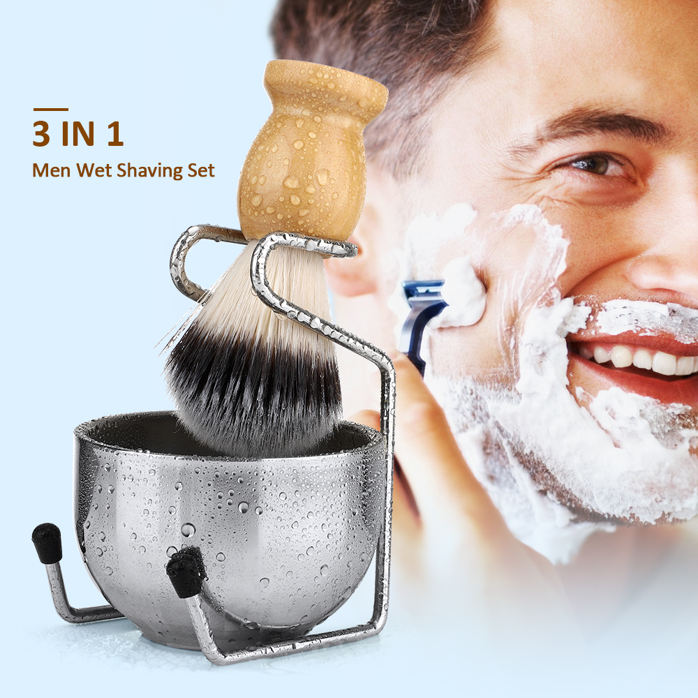 para homens molhado barbear escovas conjunto presente
