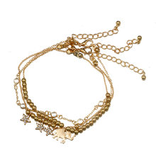 Crystal Elephant Star Anklet Set Beach Foot Jewelry Vintage Ankle Bracelets For Women Summer Jewelry Party Gift(China)