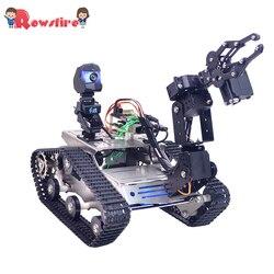 Kit programable TH WiFi FPV Tank Car Kit con brazo para Arduino MEGA-Versión Estándar/versión de evitación pequeña/Garra más grande