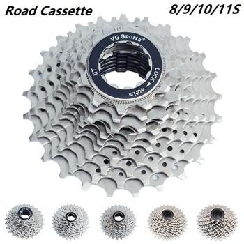 цена на Road bike 8 9 10 11 Speed Cassette 11-25T 26T 28T 32T 36T Bicycle freewheel Sprocket cogs cdg freewheels Bike Parts