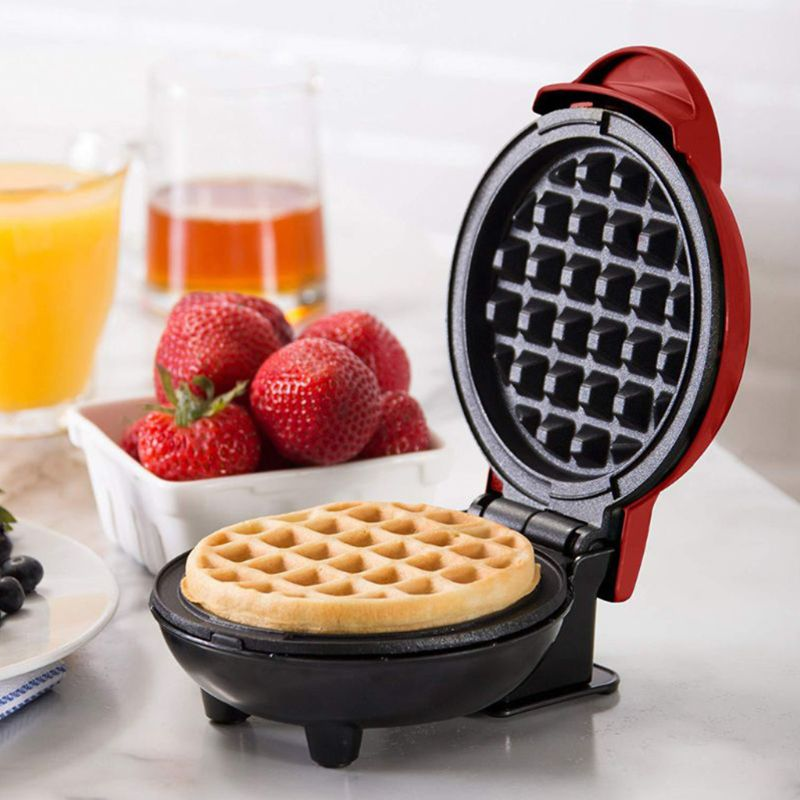 The Mini Waffle Maker Machine For Individual Waffles, Paninis, Hash Browns, & Other On The Go Breakfast, Lunch, Or Snack