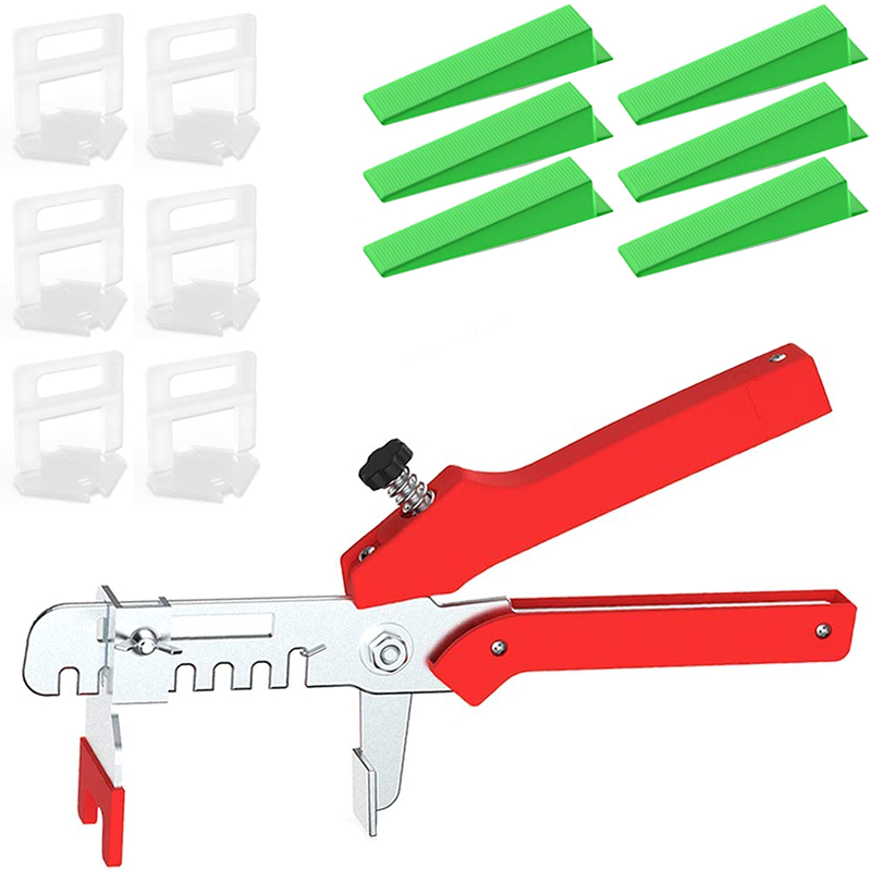 300pcs Tile Spacers Leveling System 100pcs Tile Wedges 1/8 Inch Kit For Kitchen Living Room Shower Base Tile Leveler Tools