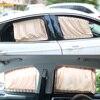 LEEPEE 2pcs Set Auto Windows Curtain Aluminum Alloy Sun Visor Blinds Cover Car Curtain Side Window Sunshade Curtains review