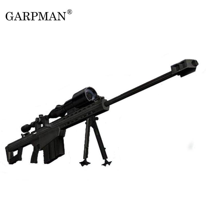 1:1 Barrett M82A1 Sniper Rifle  Gun Paper Model Weapon Magazine 3D Papercraft Puzzles Toy