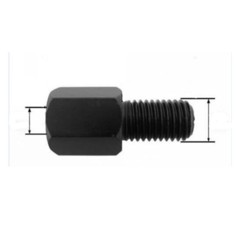 Motor Scooter Motorcycle Mirror <font><b>Adapter</b></font> M10 <font><b>M8</b></font> 10MM 8MM Right Left hand thread Changing <font><b>Screw</b></font> Black/Silver image