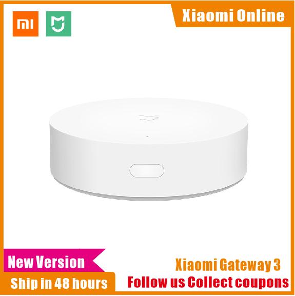 2019 nova xiaomi mijia multifuncional gateway 2/3 novo hub sistema de alarme rádio em linha inteligente luz noturna sino casa inteligente hub