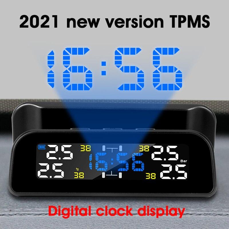 Car-Tire Pressure-Monitor-System Brightness-Control Solar-Power TPMS Develuck Automatic